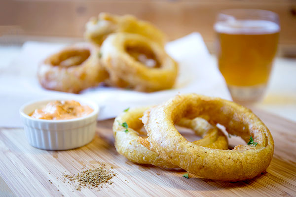 Spicy Cumin Beer Battered Onion Rings