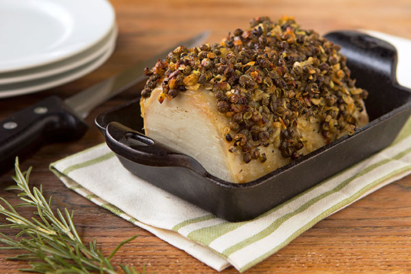 Pepper Crusted Pork Loin