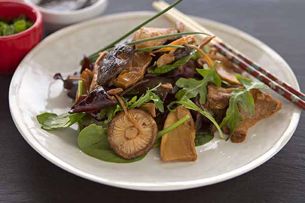 Mushroom Salad with Ponzu Dressing