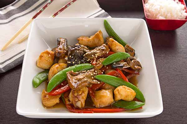 Chicken and Paddy Straw Mushroom Stir-Fry
