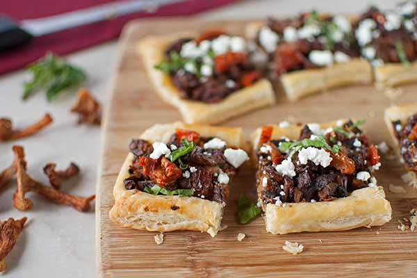 Chanterelle, Sun-Dried Tomato and Goat Cheese Tart