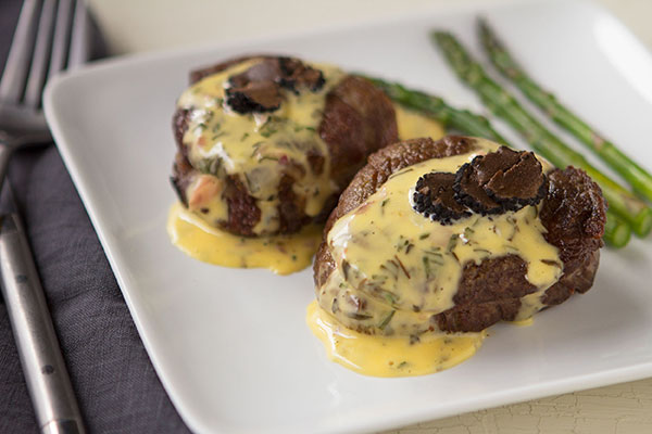 Pan Seared Filet with Sauce Béarnaise and Shaved Black truffle