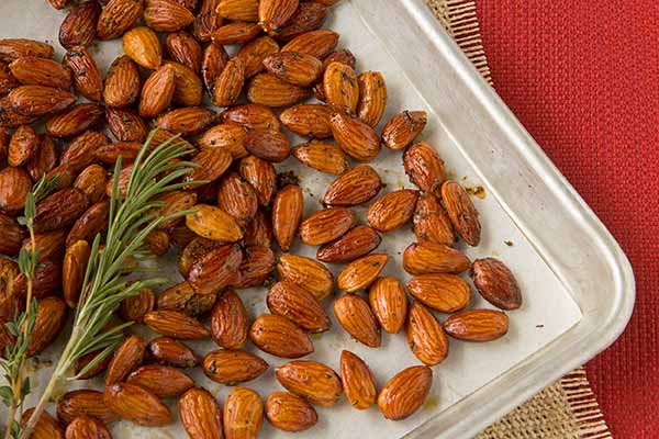 Roasted Rosemary-Thyme Almonds