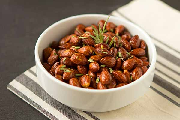 Sweet-Spicy Hickory Smoked Almonds With Rosemary
