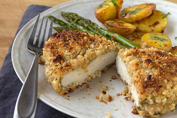 Hazelnut-Crusted Chicken with Port Wine Pan Sauce