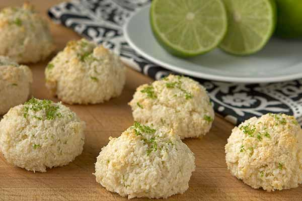 Lime and Coconut Macaroons