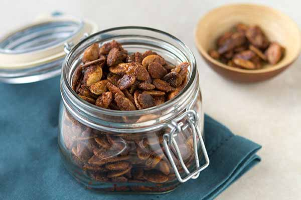 Sweet-Spicy Roasted Pumpkin Seeds