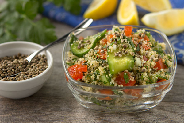 Tabouli With Lemony Hemp Seed Vinaigrette