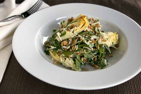 Farro Salad with Artichokes, Arugula and Parmesan