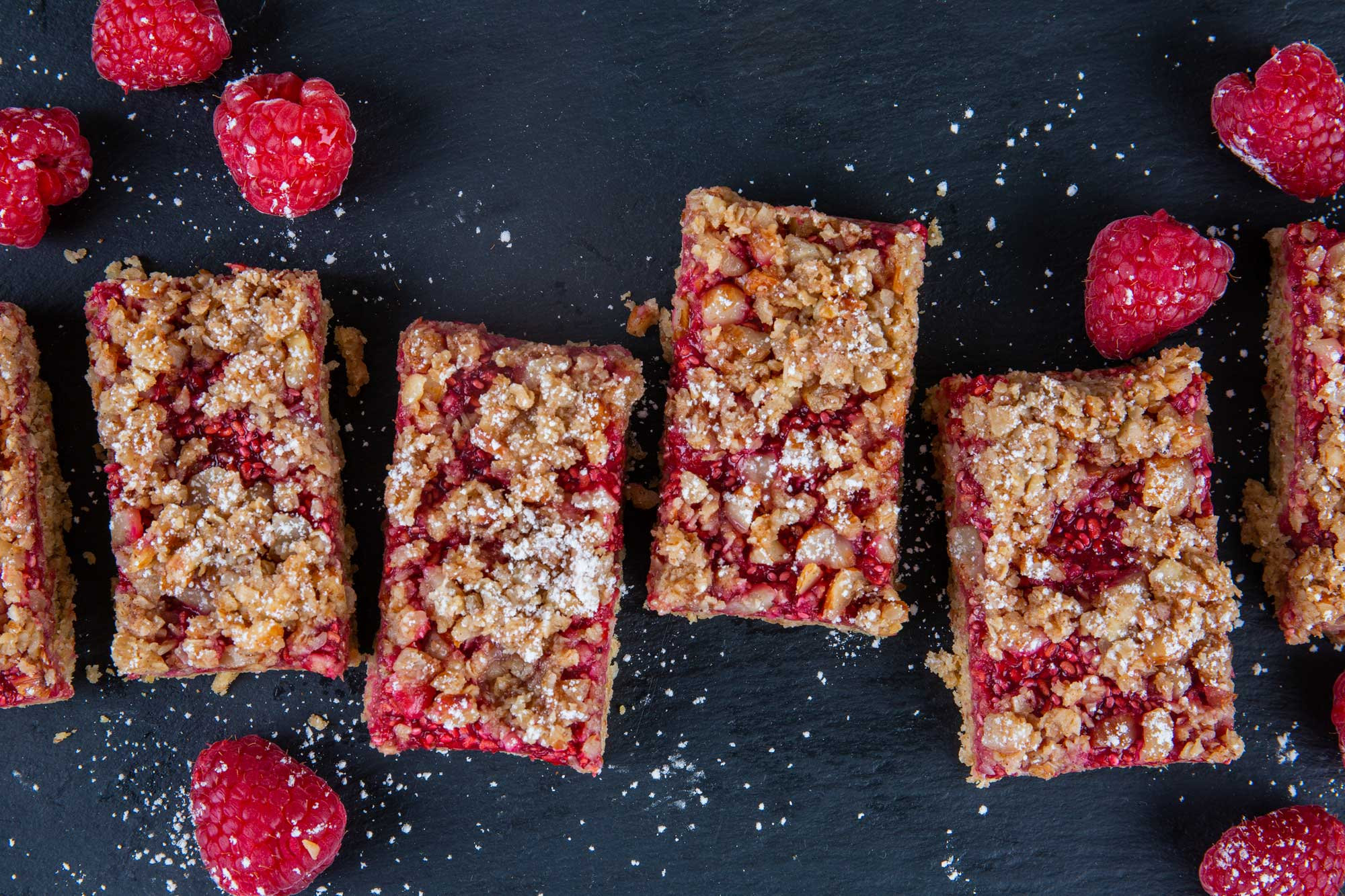 Raspberry Chia Oatmeal Bars