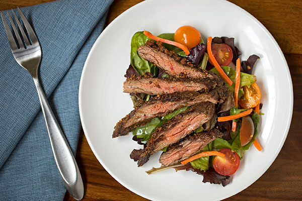Grilled Skirt Steak with Steak Blend Crust
