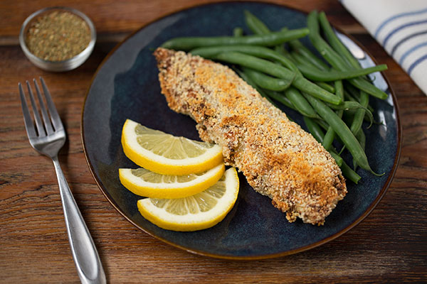 Crispy No-Salt Garlic and Herb-Crusted Baked Tilapia