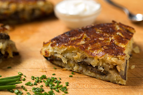 Potato and Champignon Mushroom Pancake