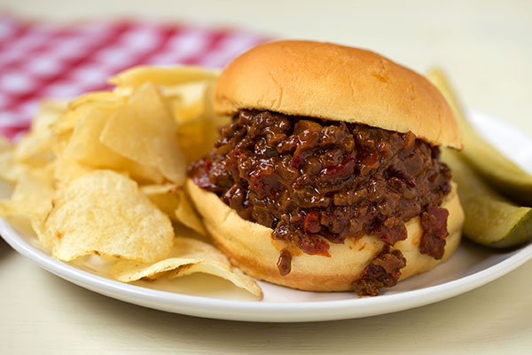 Sloppy Joes with Sweet and Hot Peppers