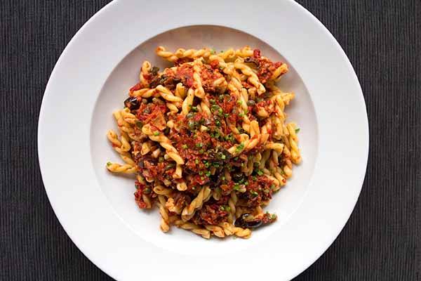 Gemelli Pasta with Bell Peppers and Tuna