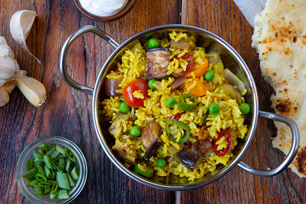 Brown Basmati Rice with Vegetables and Spices