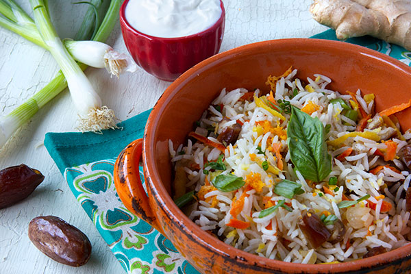 Organic Basmati Rice with Ginger and Dates