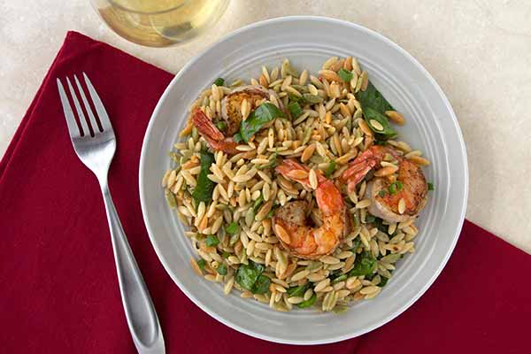 Shrimp Scampi with Tri-Colored Italian Rainbow Orzo