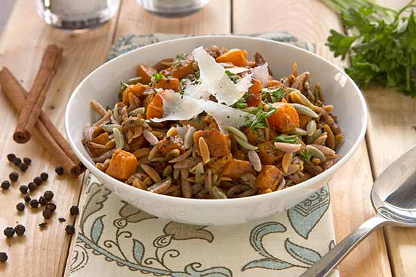 Autumn Harvest Orzo with Butternut Squash and Spiced Brown Butter