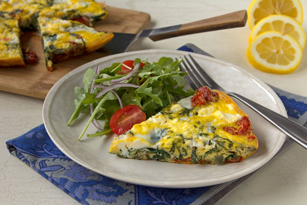 Sun-Dried Tomato, Spinach and Feta Frittata