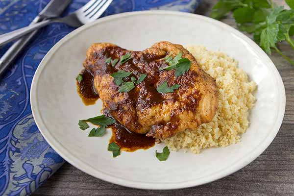 Sun-Dried Tomato Seared Chicken Breast with Couscous