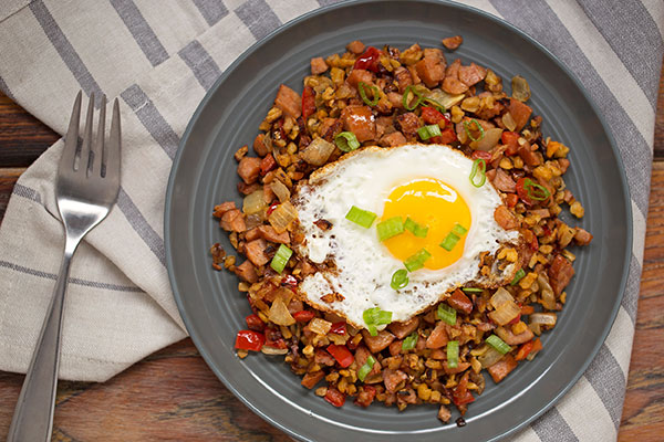 Andouille Sausage Hash with Butternut Squash
