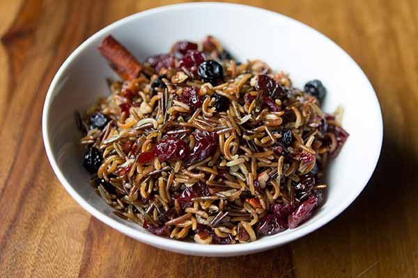 Wild Rice Salad with Dried Fruits