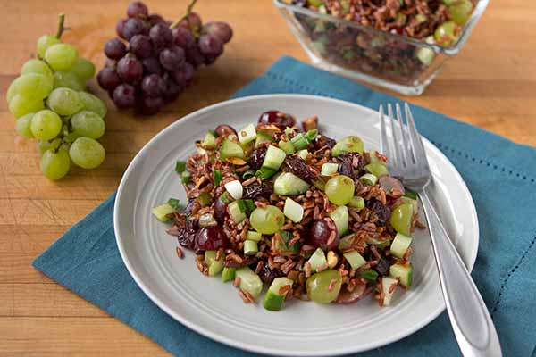 Red Rice Salad with Nuts and Fruit