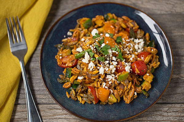Spanish Blend and Vegetables with Feta