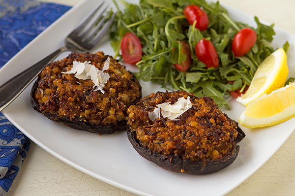 Portabella Mushrooms Stuffed with Fregola Rustica