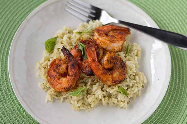Shrimp with Coconut Green Curry Rice
