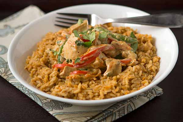 Thai Coconut Red Curry Chicken