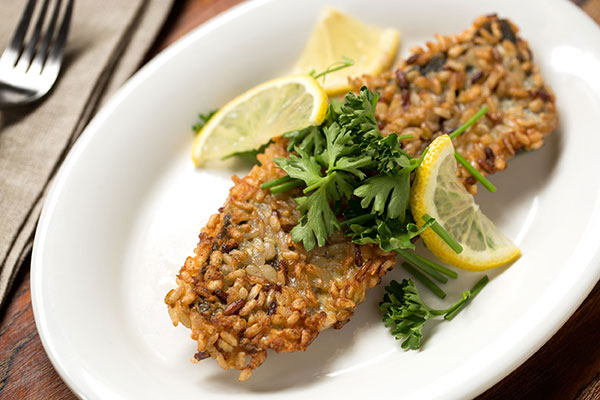 Trout with Speckled Brown Rice Blend Crust
