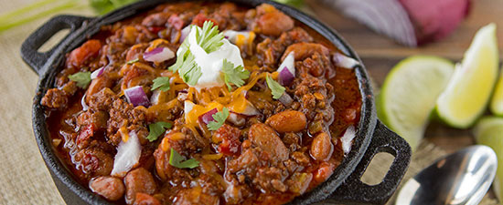Three-Pepper Tailgate Chili